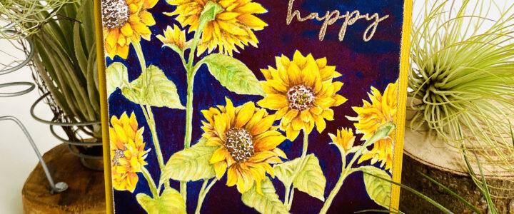 Altenew Paint-A-Flower: Sunflower and Woodless Watercolor Pencil Release Blog Hop
