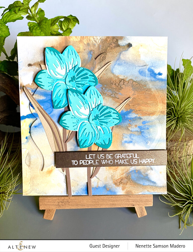 Craft-a-Flower: Daffodil and Glitter Cardstock Release Blog Hop