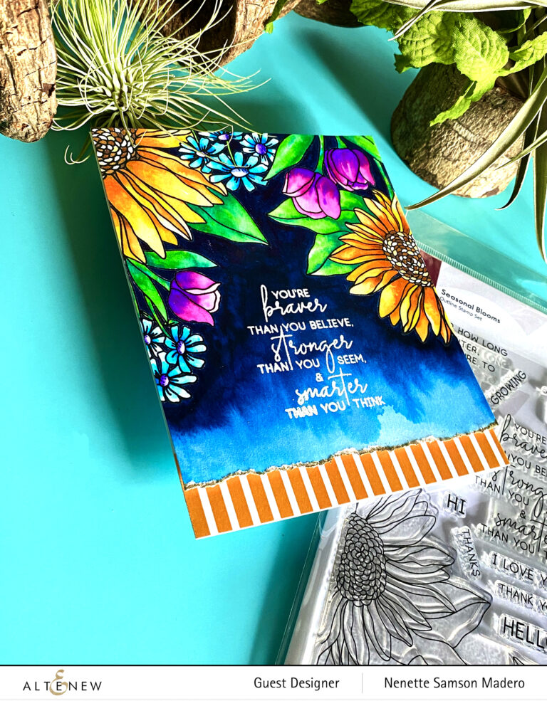 Altenew Project Life Kit: Seasonal Blooms Stamp, Die, Embossing Folder and Stencil Release