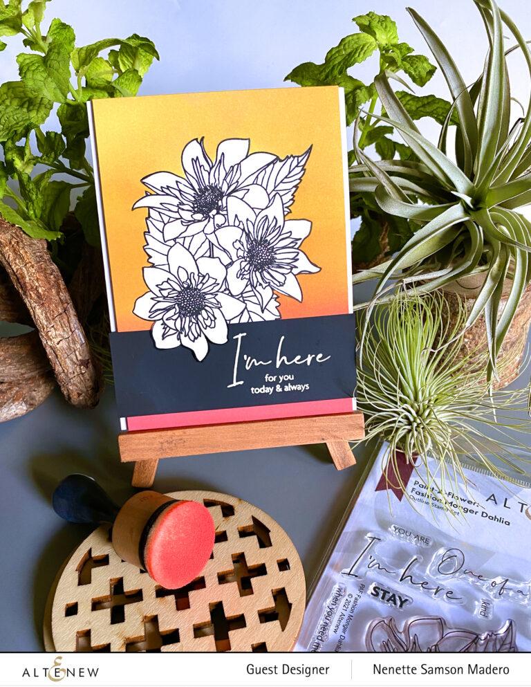 Altenew Paint-A-Flower: Fashion Monger Dahlia Release Blog Hop + Giveaway