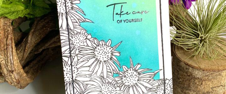 Altenew Paint-A-Flower: White Swan Echinacea Release Blog Hop